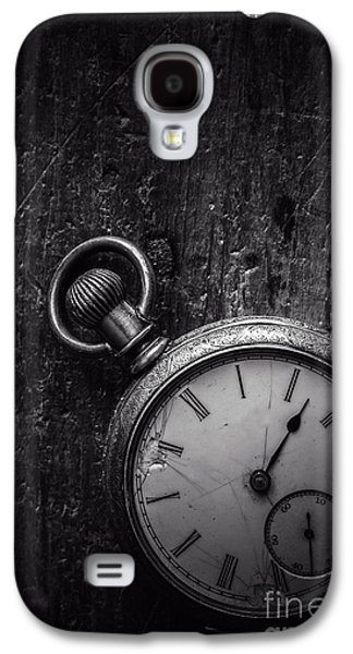 Business Galaxy S4 Cases - Keeping Time Black and White Galaxy S4 Case by Edward Fielding