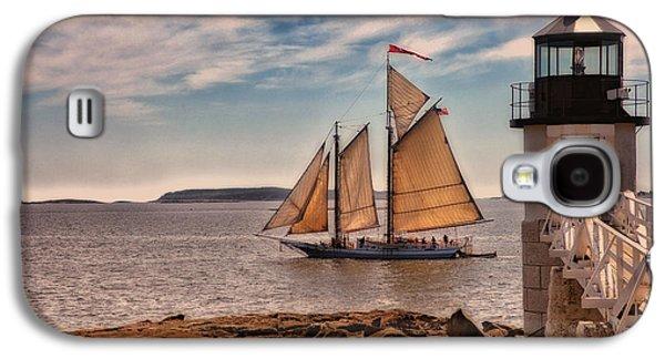 Coastal Maine Galaxy S4 Cases - Keeping Vessels Safe Galaxy S4 Case by Karol  Livote