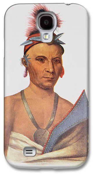 Medicine Photographs Galaxy S4 Cases - Keesheswa Or The Sun, A Fox Chief, C.1837, Illustration From The Indian Tribes Of North America Galaxy S4 Case by Charles Bird King