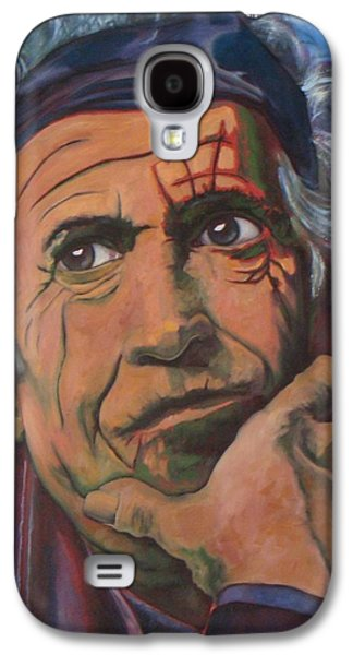 Keith Richards Galaxy S4 Cases - Keith Galaxy S4 Case by Christina Clare