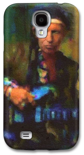 Keith Richards Galaxy S4 Cases - Keith  Galaxy S4 Case by Janice MacLellan