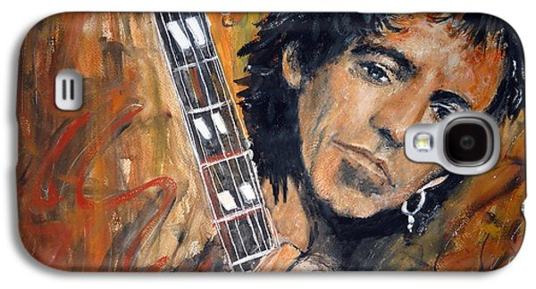 Keith Richards Paintings Galaxy S4 Cases - Keith Richard Galaxy S4 Case by Olivia Gray