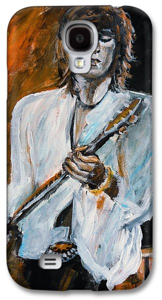 Keith Richards Paintings Galaxy S4 Cases - Keith Richards - live Galaxy S4 Case by Olivia Gray
