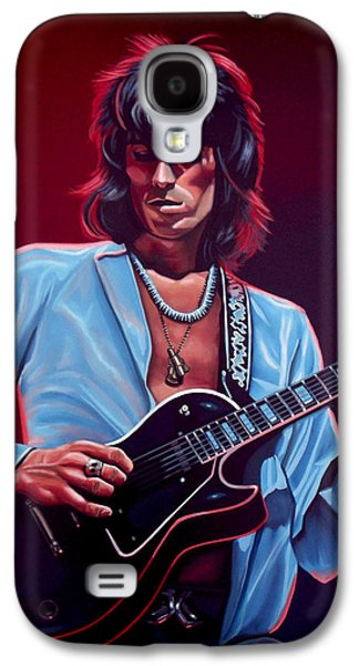 Stones Paintings Galaxy S4 Cases - Keith Richards 2 Galaxy S4 Case by Paul Meijering