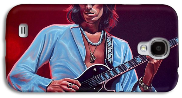 Keith Richards Paintings Galaxy S4 Cases - Keith Richards 2 Galaxy S4 Case by Paul  Meijering