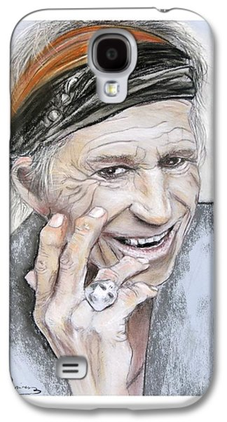 Keith Richards Galaxy S4 Cases - Keith Richards 2013 Galaxy S4 Case by Ruth Jamieson