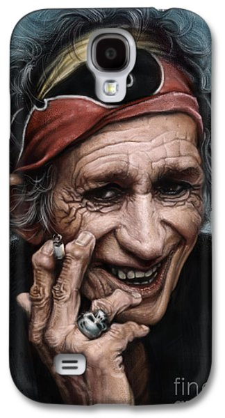 Keith Richards Galaxy S4 Cases - Keith Richards Galaxy S4 Case by Andre Koekemoer
