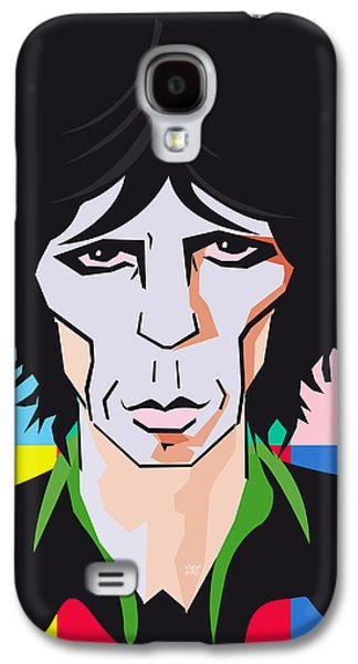 Keith Richards Galaxy S4 Cases - Keith Richards Guitar Hero Galaxy S4 Case by Neil Finnemore