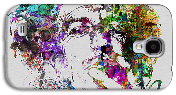 Keith Richards Paintings Galaxy S4 Cases - Keith Richards Galaxy S4 Case by Naxart Studio