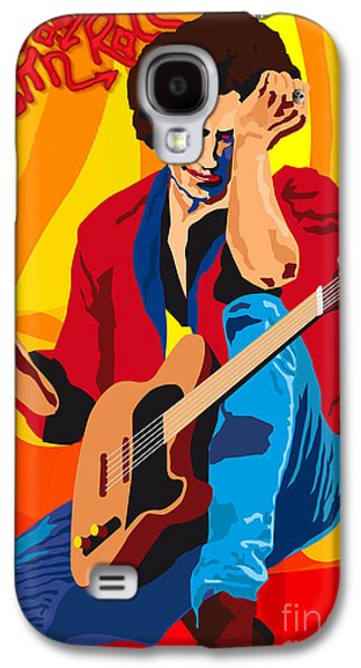 Keith Richards Galaxy S4 Cases - KEITH RICHARDS ITS ONLY ROCK n ROLL Galaxy S4 Case by Neil Finnemore