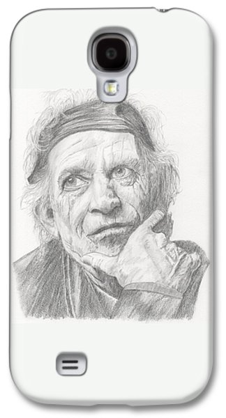 Keith Richards Galaxy S4 Cases - Keith Richards Galaxy S4 Case by Keith Miller