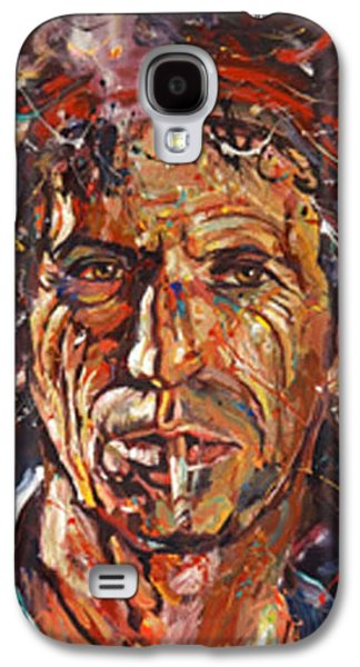 Keith Richards Paintings Galaxy S4 Cases - Keith Richards Galaxy S4 Case by Michael Wardle
