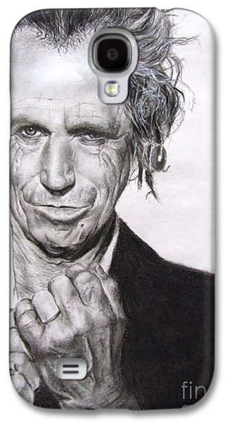 Music Pastels Galaxy S4 Cases - Keith Richards Galaxy S4 Case by Natalia Chaplin