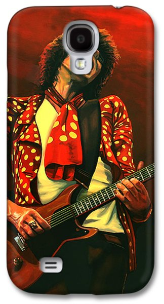 Keith Richards Painting Galaxy S4 Case by Paul Meijering