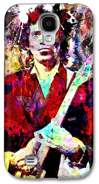 Mix Medium Galaxy S4 Cases - Keith Richards - The Rolling Stones Galaxy S4 Case by Ryan RockChromatic