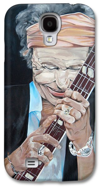 Keith Richards Paintings Galaxy S4 Cases - Keith Richards Galaxy S4 Case by Victoria Dietz