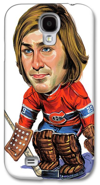 Canadiens Paintings Galaxy S4 Cases - Ken Dryden Galaxy S4 Case by Art