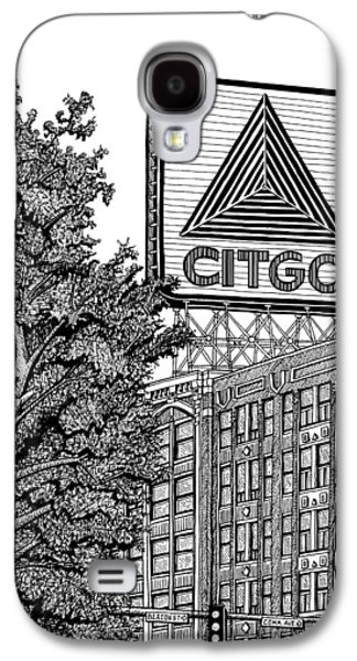 Park Scene Drawings Galaxy S4 Cases - Kenmore Square Citgo Sign Galaxy S4 Case by Conor Plunkett