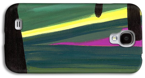 Abstracted Galaxy S4 Cases - Kensington Gardens Series Light In The Park Oil On Canvas Galaxy S4 Case by Izabella Godlewska de Aranda