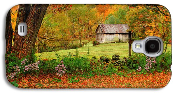 Quaint Photographs Galaxy S4 Cases - Kent Hollow-Connecticut autumn scenic Galaxy S4 Case by Thomas Schoeller
