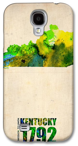 Decoration Galaxy S4 Cases - Kentucky Watercolor Map Galaxy S4 Case by Naxart Studio