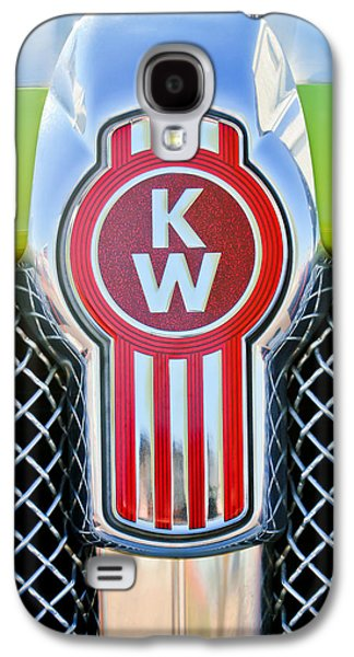 Car Photographs Galaxy S4 Cases - Kenworth Truck Emblem -1196c Galaxy S4 Case by Jill Reger