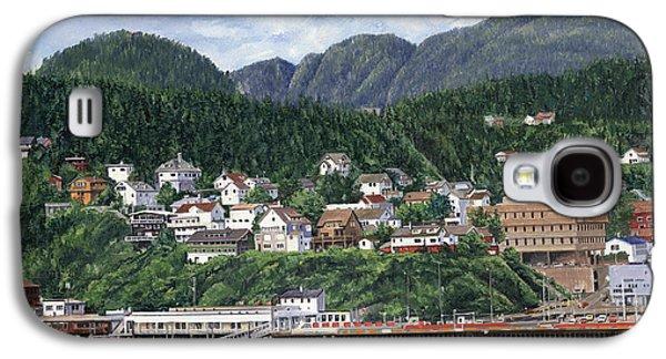Harbor Paintings Galaxy S4 Cases - Ketchikan Alaska Galaxy S4 Case by Don  Langeneckert