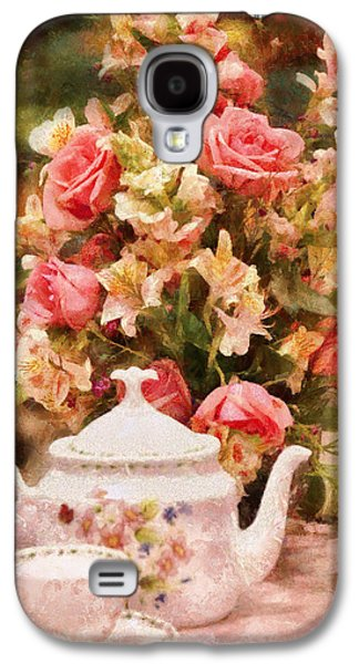 Suburban Digital Art Galaxy S4 Cases - Kettle - More tea Milady  Galaxy S4 Case by Mike Savad