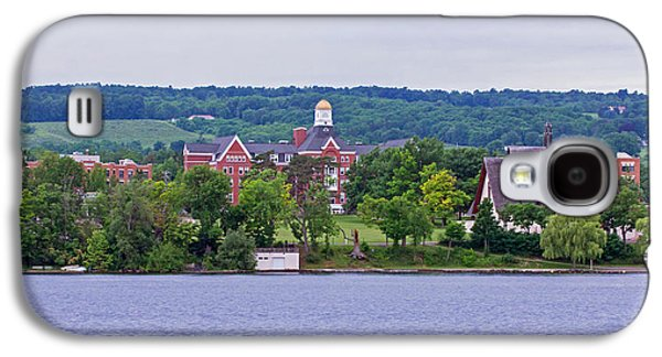 Keuka Galaxy S4 Cases - Keuka College - Ball Hall and Norton Chapel from the lake Galaxy S4 Case by Photographic Arts And Design Studio
