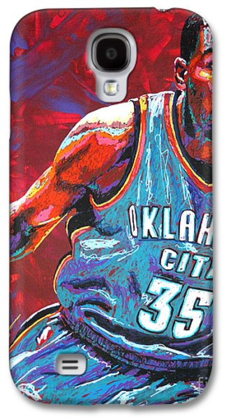 Usa Paintings Galaxy S4 Cases - Kevin Durant 2 Galaxy S4 Case by Maria Arango