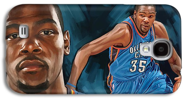 Nba Galaxy S4 Cases - Kevin Durant Artwork Galaxy S4 Case by Sheraz A