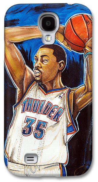 Espn Galaxy S4 Cases - Kevin Durant Galaxy S4 Case by Dave Olsen