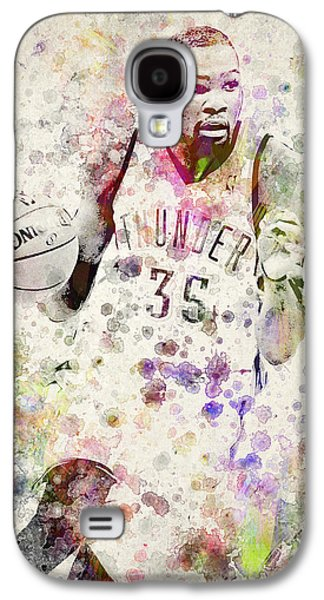 Dunk Galaxy S4 Cases - Kevin Durant in color Galaxy S4 Case by Aged Pixel