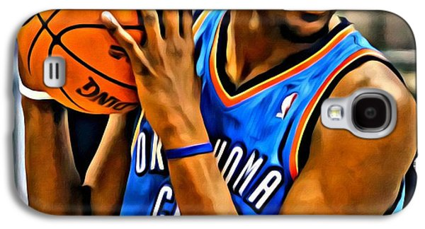 Slam Galaxy S4 Cases - Kevin Durant Portrait Galaxy S4 Case by Florian Rodarte