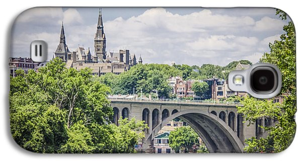Key Bridge And Georgetown University Galaxy S4 Case by Bradley Clay