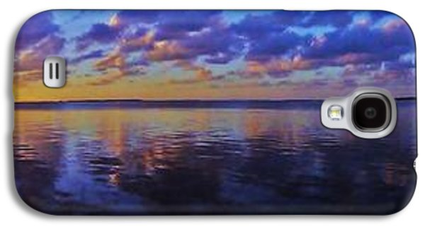 Waterscape Galaxy S4 Cases - Key Largo Sunset Panorama Galaxy S4 Case by Benjamin Yeager