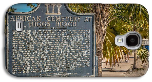 African-americans Photographs Galaxy S4 Cases - Key West African Cemetery Sign Landscape - Key West - HDR Style Galaxy S4 Case by Ian Monk