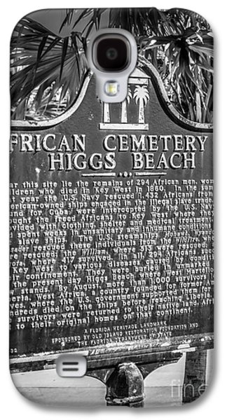 African-americans Photographs Galaxy S4 Cases - Key West African Cemetery Sign Portrait - Key West - Black and W Galaxy S4 Case by Ian Monk