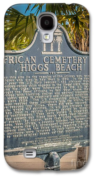 African-americans Photographs Galaxy S4 Cases - Key West African Cemetery Sign Portrait - Key West - HDR Style Galaxy S4 Case by Ian Monk