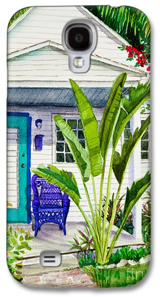 Rocking Chairs Galaxy S4 Cases - Key West Cottage Watercolor Galaxy S4 Case by Michelle Wiarda
