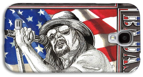 Music Drawings Galaxy S4 Cases - Kid Rock American Badass Galaxy S4 Case by Cory Still