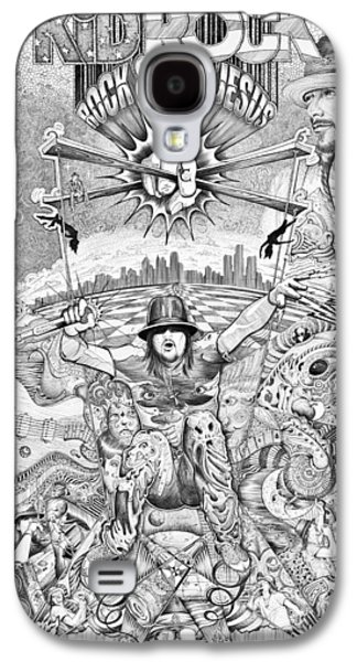 Hop Drawings Galaxy S4 Cases - Kid Rock and Roll Galaxy S4 Case by Lance Graves