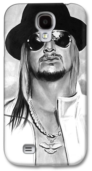 Rocks Drawings Galaxy S4 Cases - Kid Rock Galaxy S4 Case by Brian Curran