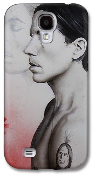 Pepper Paintings Galaxy S4 Cases - Kiedis Apache Soul Galaxy S4 Case by Christian Chapman Art