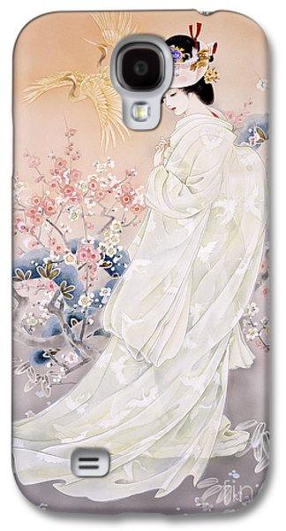 Cherry Blossoms Digital Art Galaxy S4 Cases - Kihaku Galaxy S4 Case by Haruyo Morita