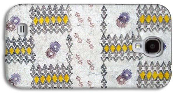 Contemporary Abstract Tapestries - Textiles Galaxy S4 Cases - Kiiro Kapa Galaxy S4 Case by Dalani Tanahy