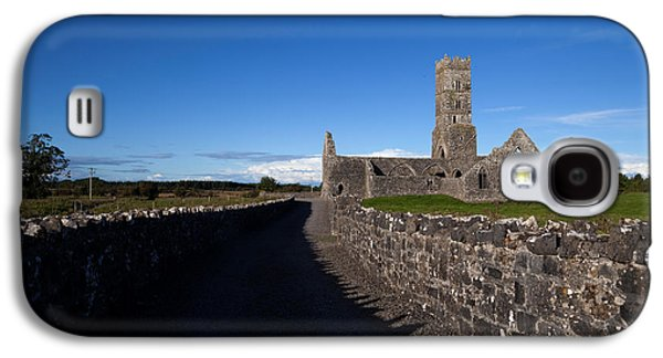 Old Country Roads Photographs Galaxy S4 Cases - Kilconnell Friary Founded In 1353 Galaxy S4 Case by Panoramic Images
