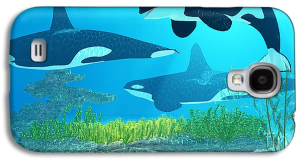 Whale Digital Art Galaxy S4 Cases - Killer Whale Reef Galaxy S4 Case by Corey Ford