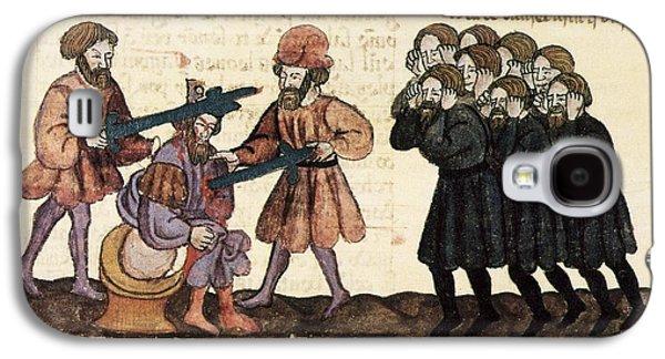 Book Of Daniel Galaxy S4 Cases - Killing Of King Belshazzar, 1430 Artwork Galaxy S4 Case by Patrick Landmann