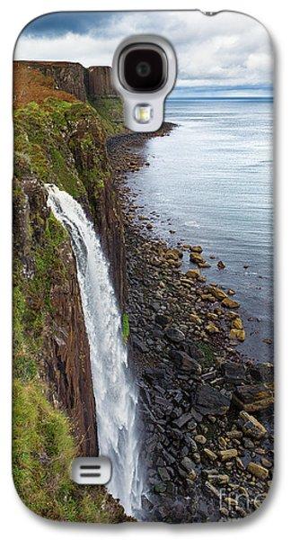 Scotland Galaxy S4 Cases - Kilt Rock waterfall Galaxy S4 Case by Jane Rix